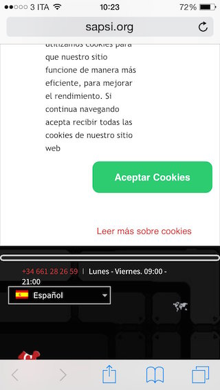 spanish cookie law disclaimer 2
