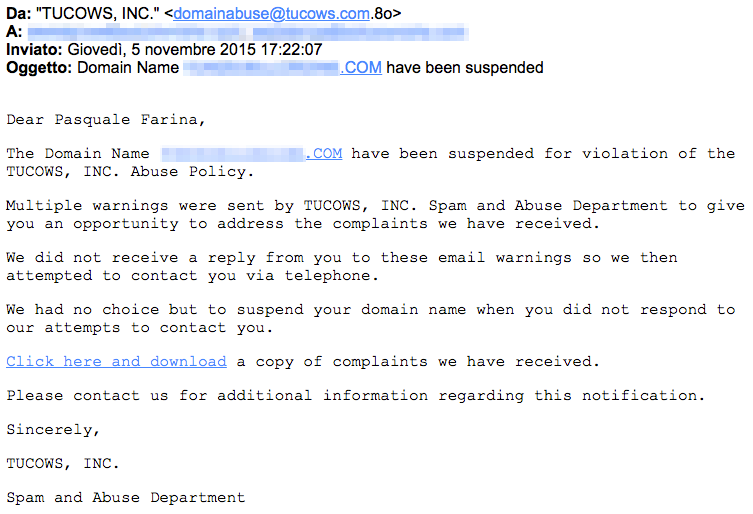 Phishing attach to domain registrars and owners