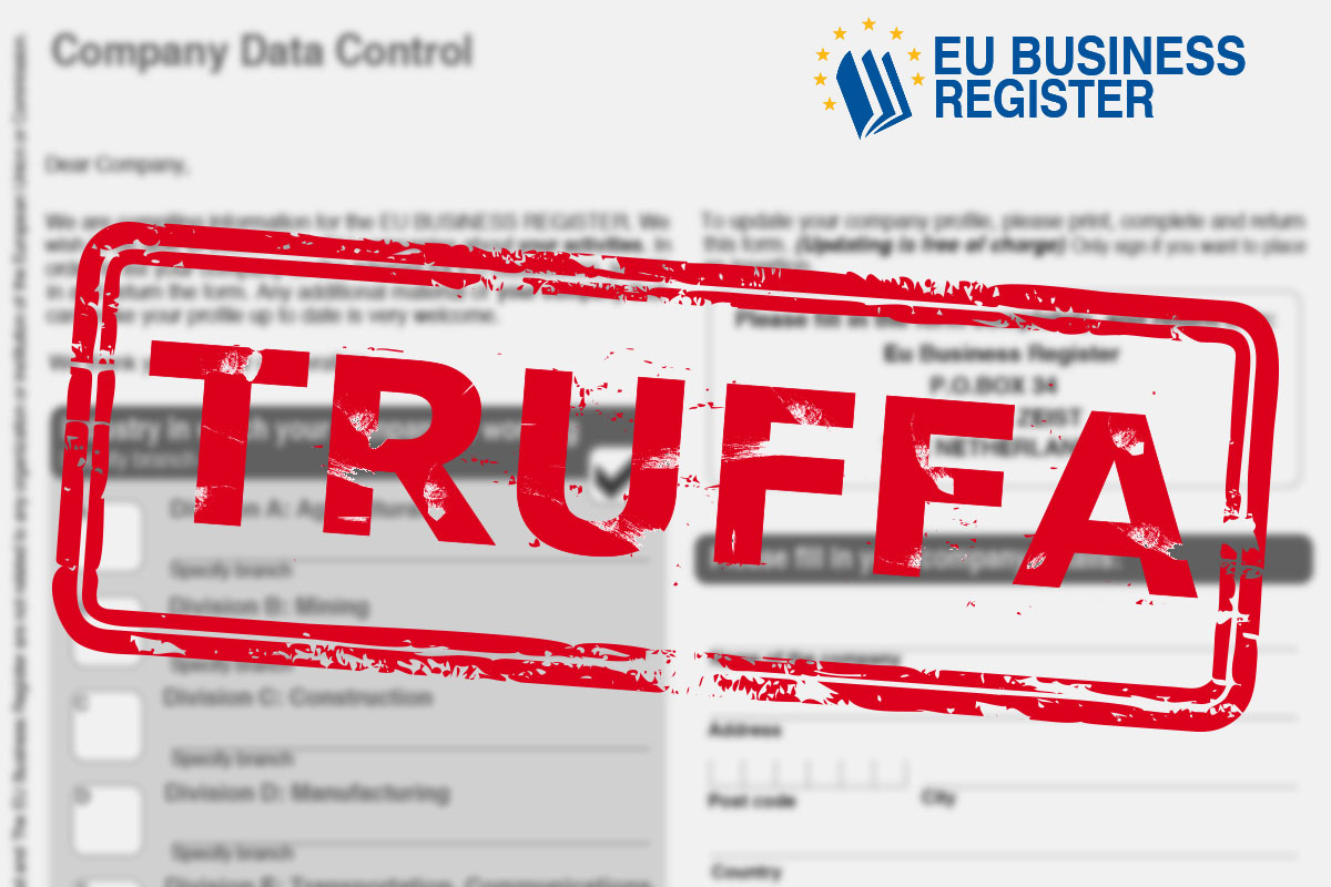 EU Business Register truffa